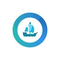 Blue Full-Colored OpenSea logo