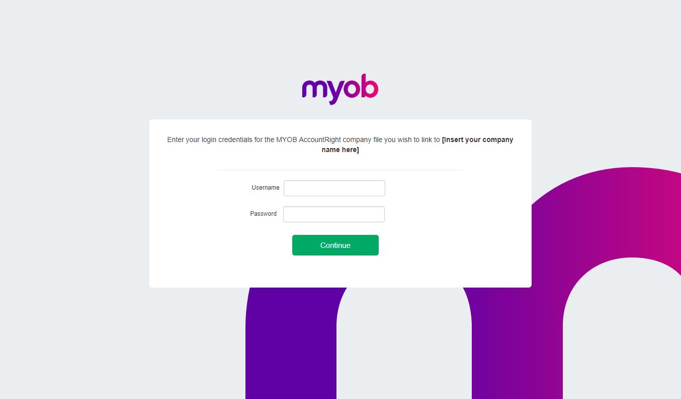 Linking to MYOB AccountRight Live