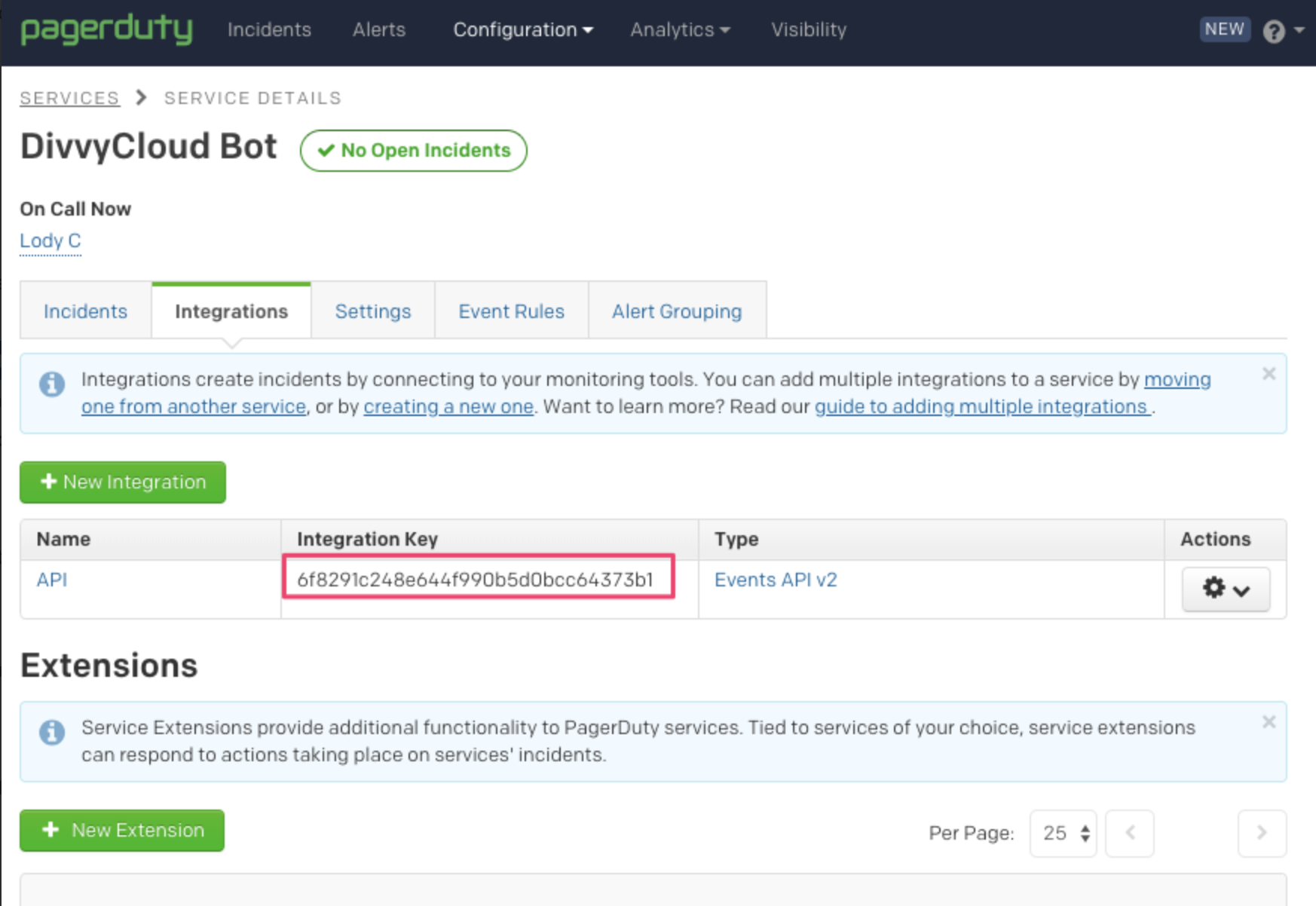PagerDuty Example Integration Key