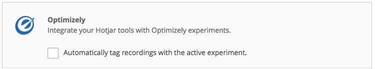 "Place a tick next to ""Automatically tag recordings with the active experiment."" and the integration will be enabled."