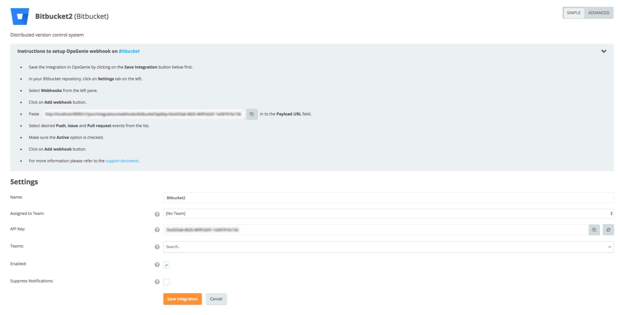 Bitbucket Integration