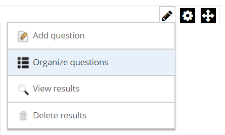 Organize questions