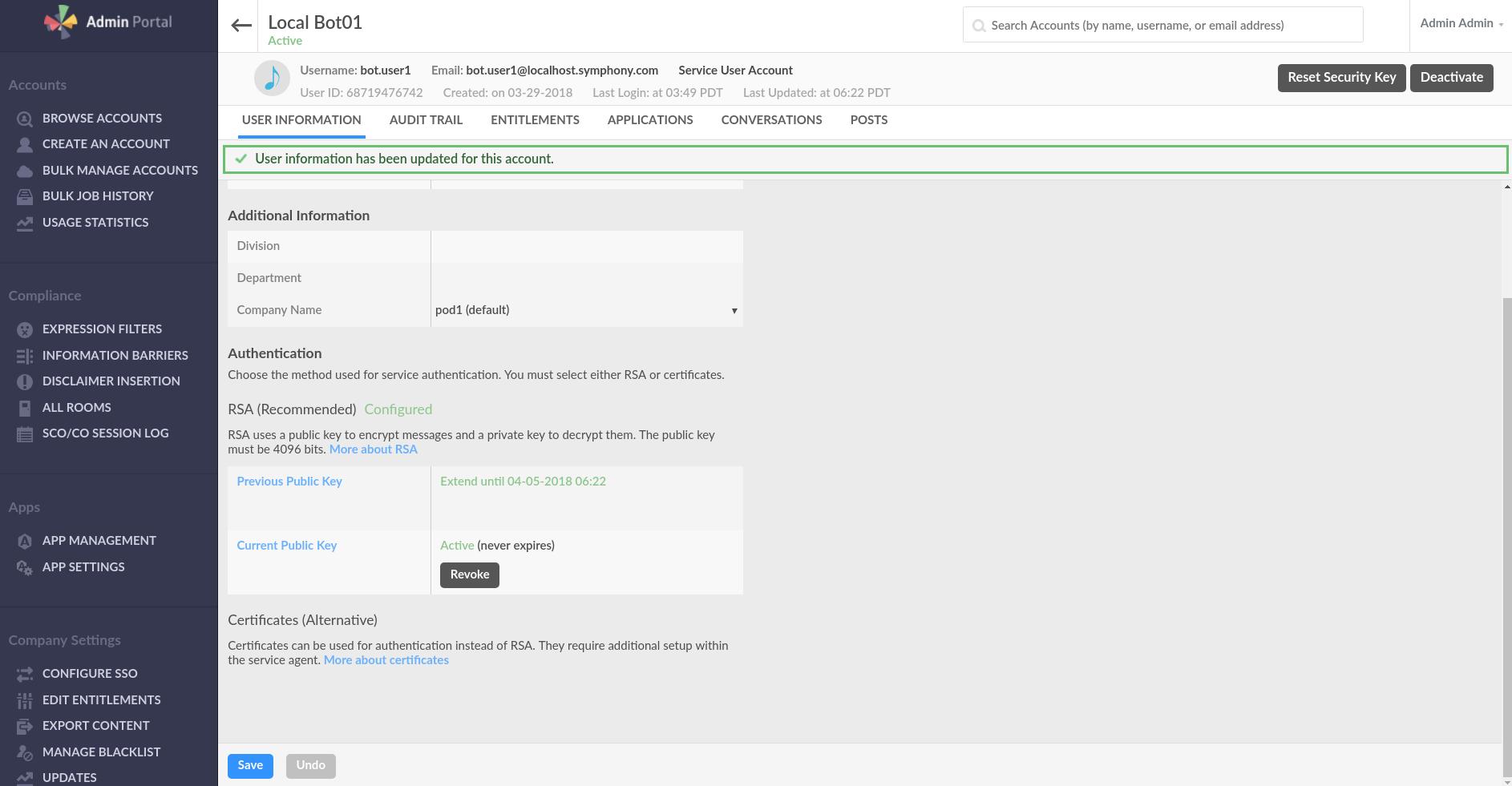RSA Bot Authentication Workflow