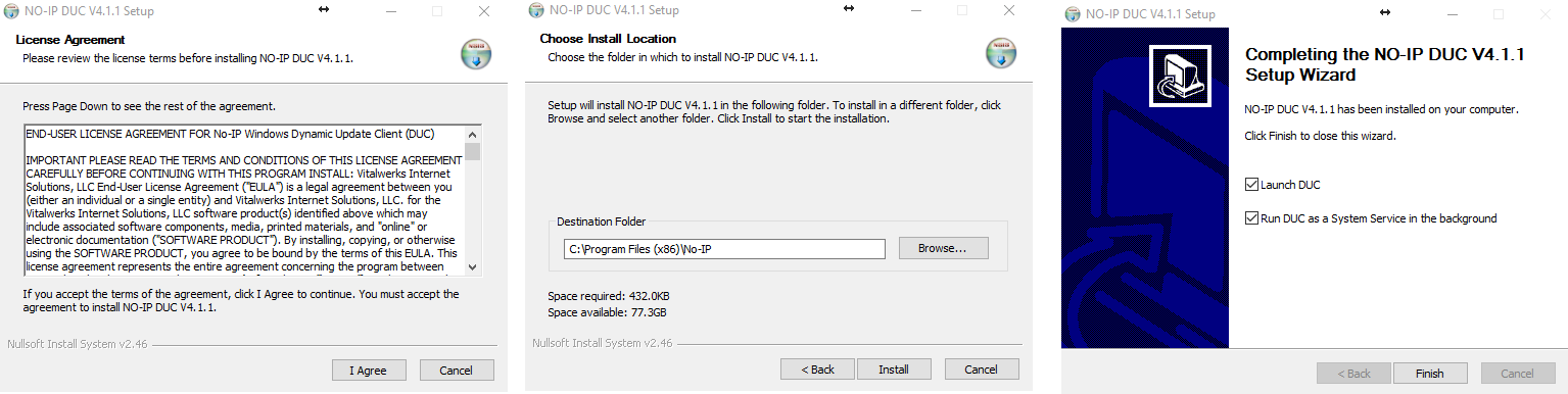 Figure 4.5. DUC installation.