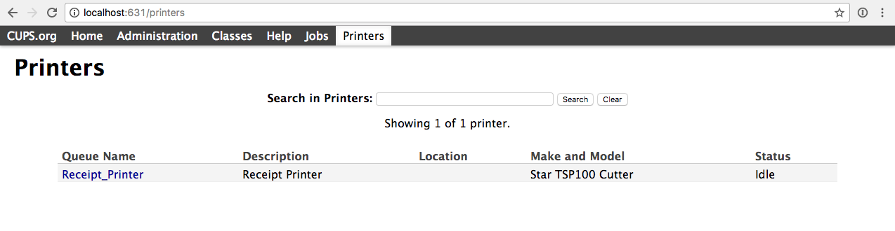 Click on the Printer