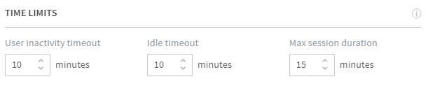 Set up session time limits · Frame Documentation