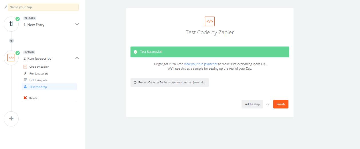 Typeform with SearchBlox using Zapier