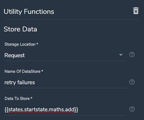 Store Data module settings
