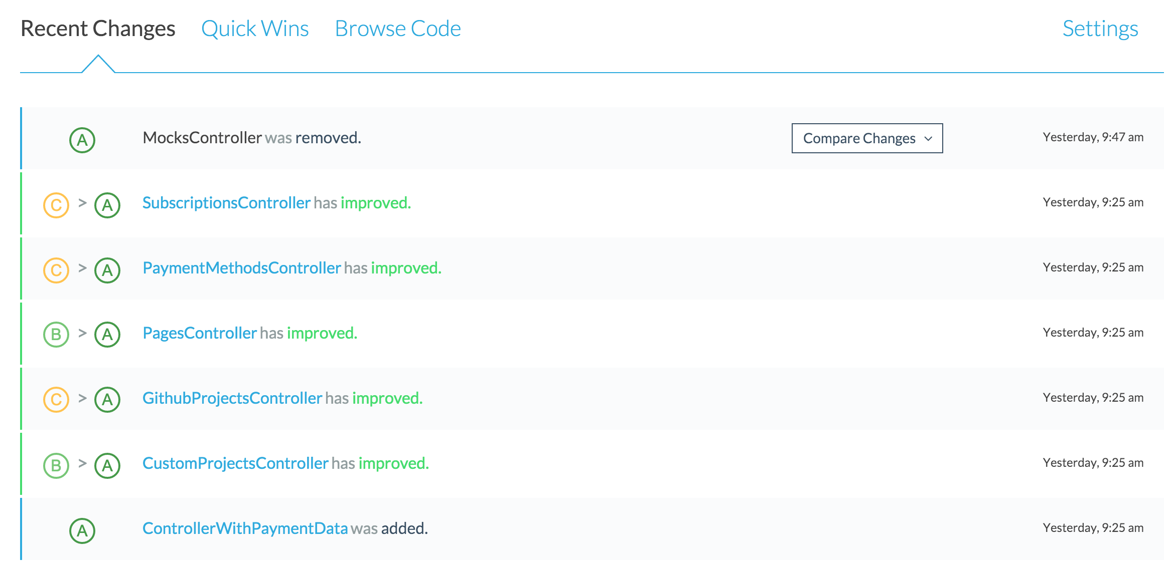 Recent changes for our frontend app