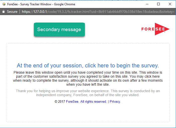 Tracker Secondary Window