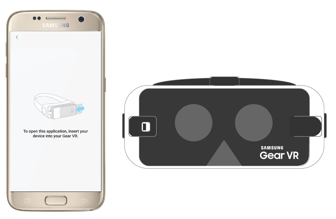 Open the app and insert in Gear VR