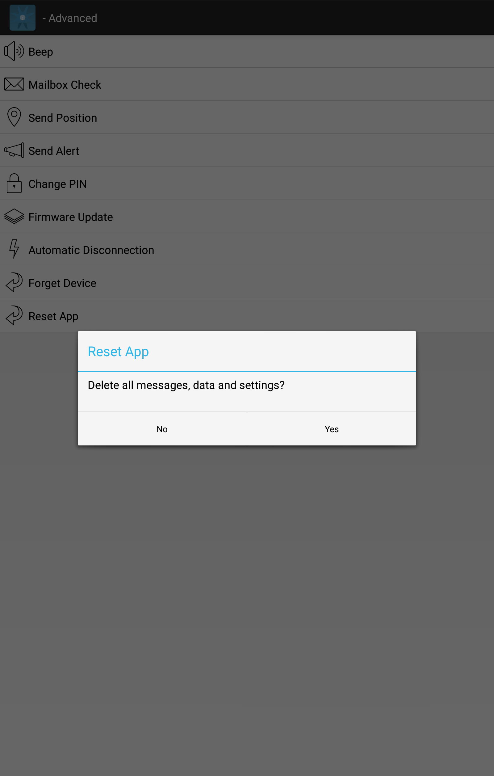 Reset App