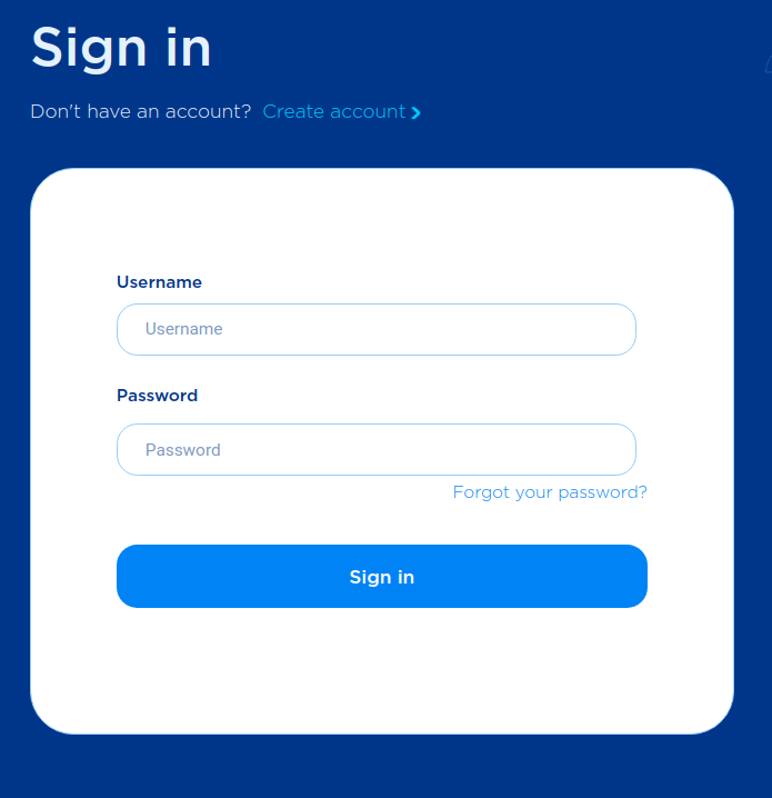 Accept portal - sign in page.