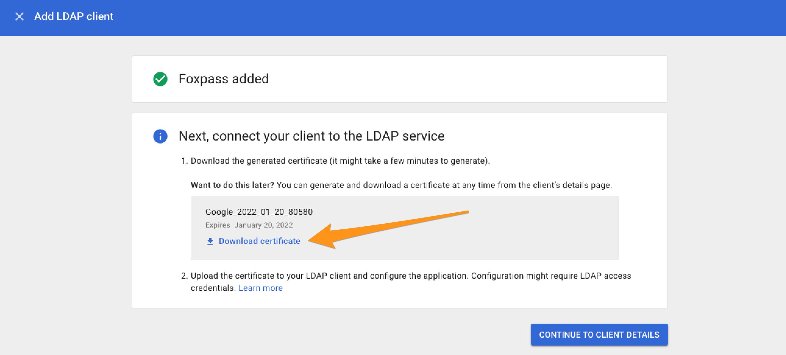 G Suite LDAP / Foxpass password delegation