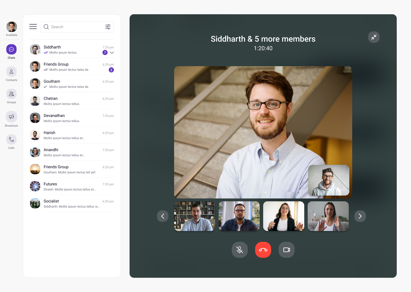 Web Chat video call