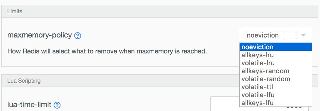 maxmemory settings.