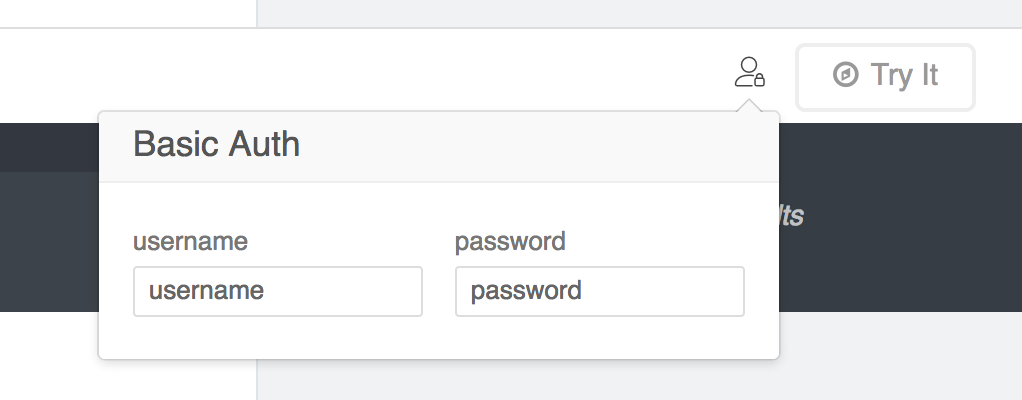 Basic Auth forms are filled from user object `user` and `pass`