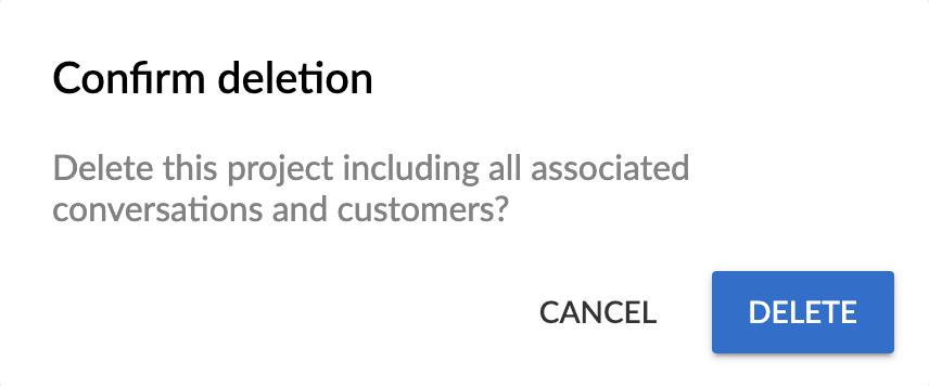 """Confirm deletion"" popup."