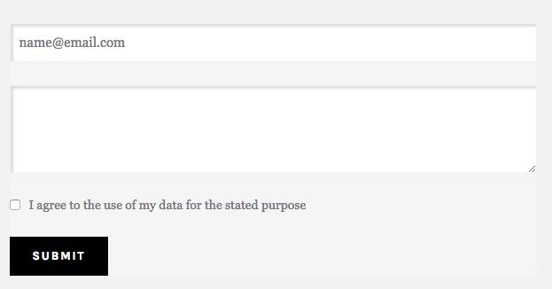 Form consent checkbox