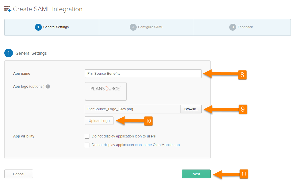 PlanSource/Okta SAML SSO