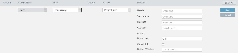 **Present alert** details