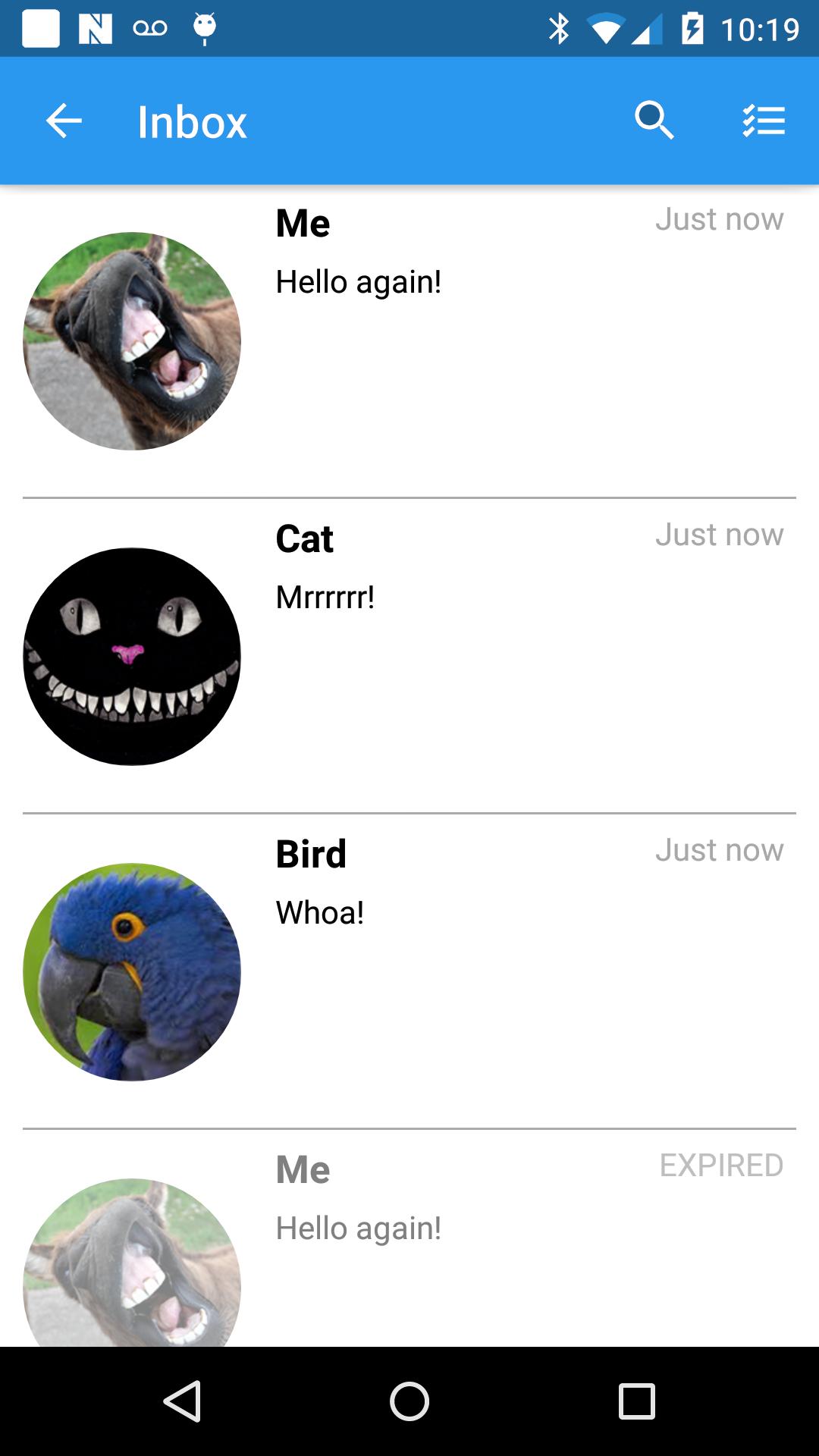 [Screenshot 5] Default Inbox Activity