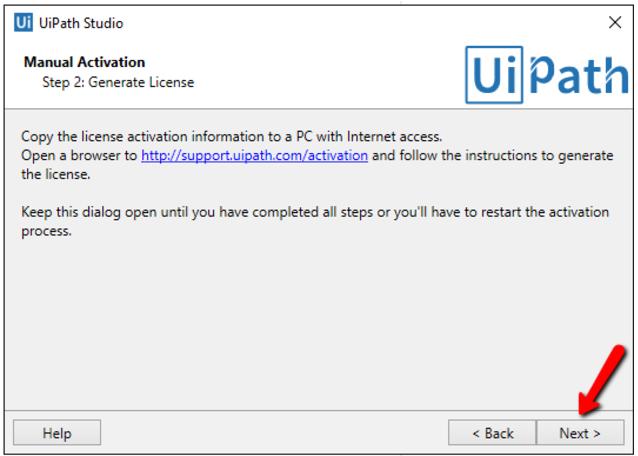 Activating your Studio License