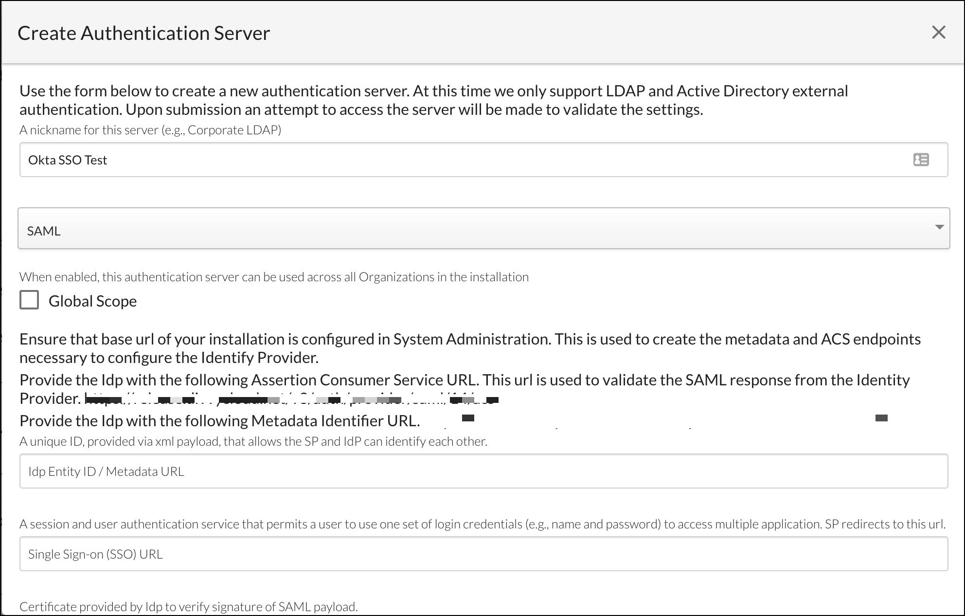 Authentication Server - Okta Example
