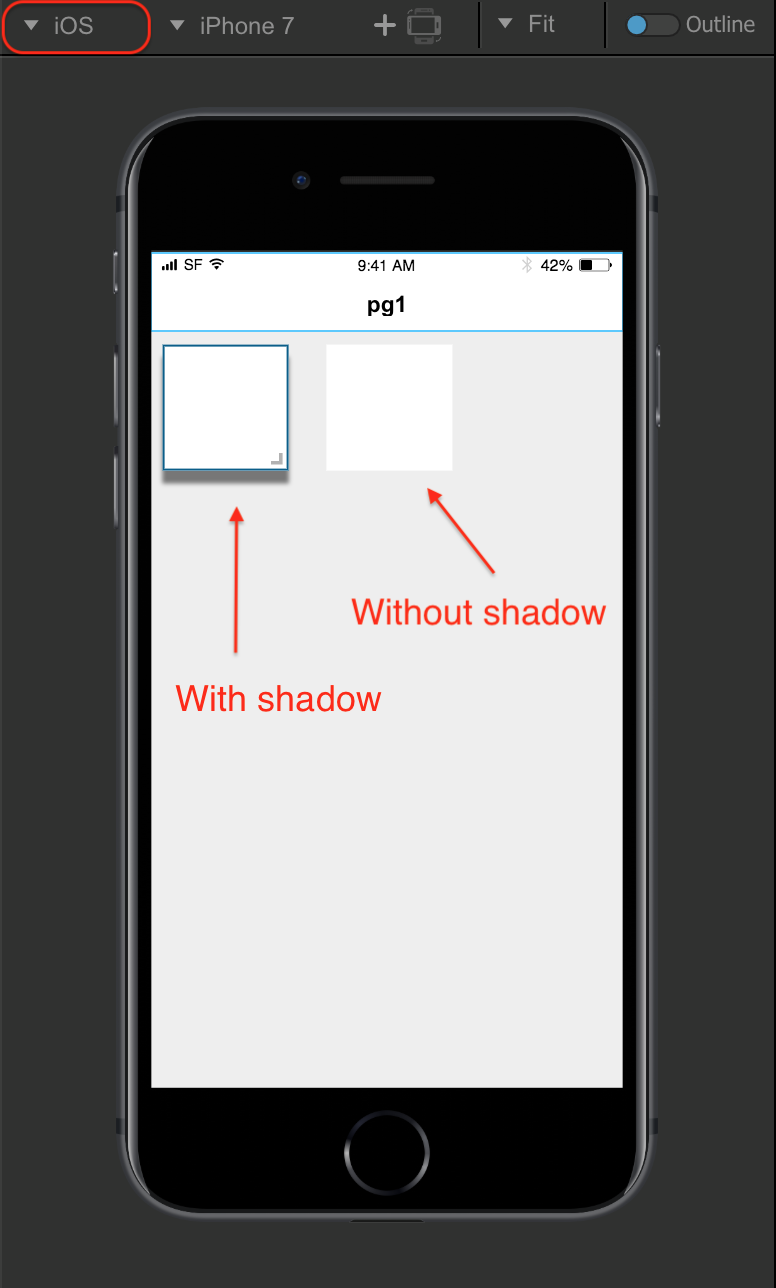Setting Component Shadows from the UI Editor