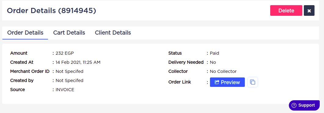 Accept Dashboard - Orders - Orders Summary.