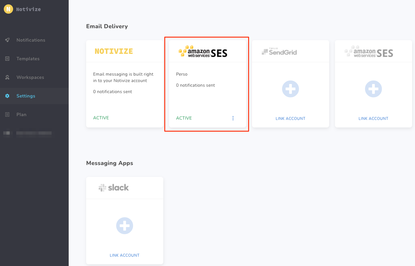 Amazon SES integration - Success
