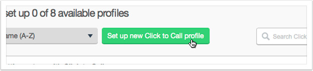 Click the 'Add new Click to Call profile' button