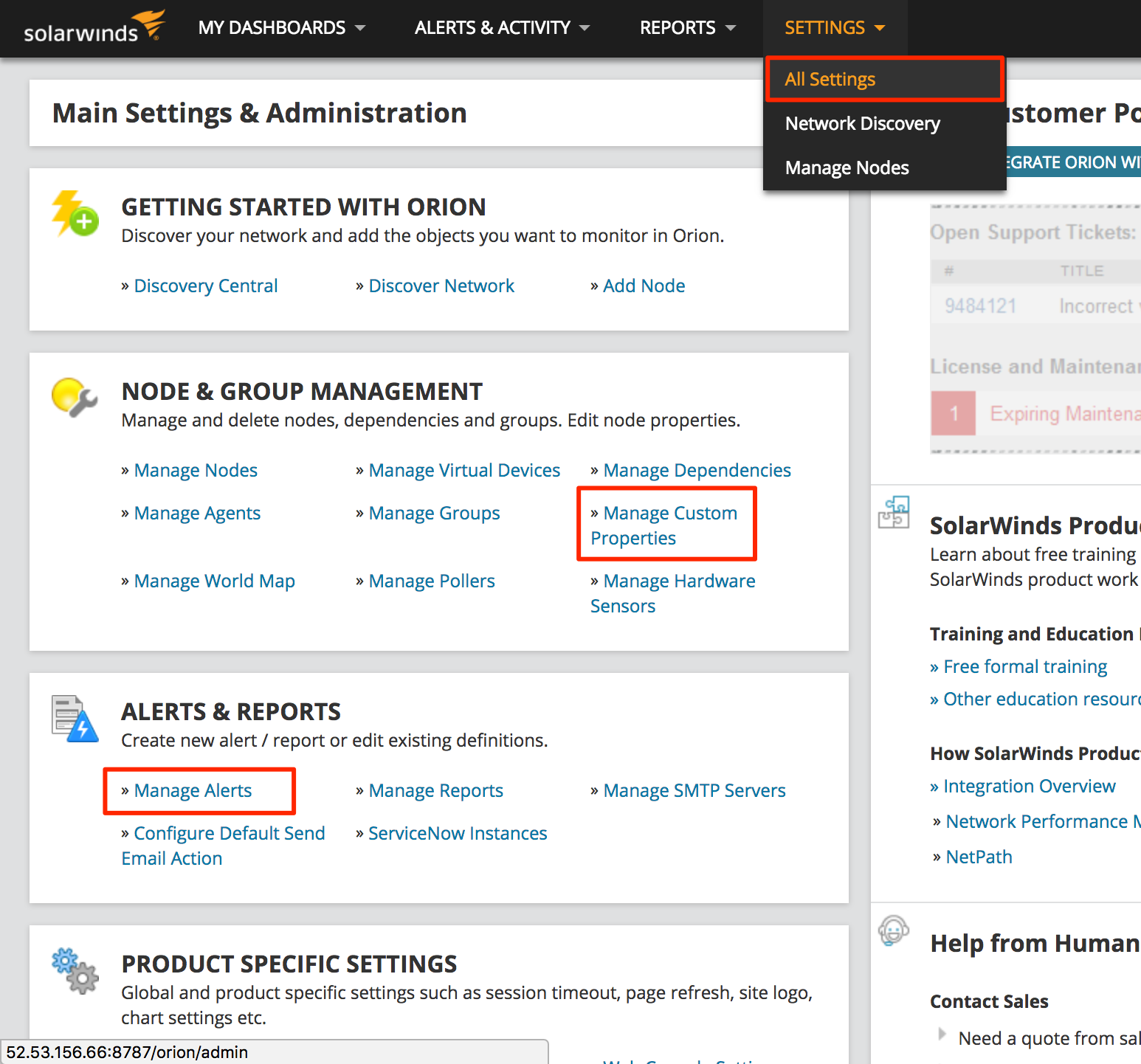 SolarWinds Orion Troubleshooting Guide