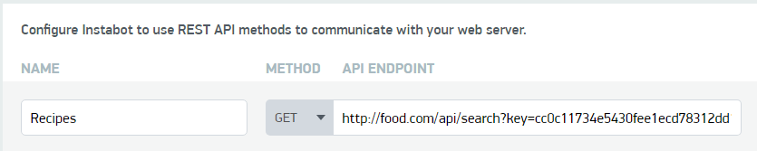 API URL Endpoint