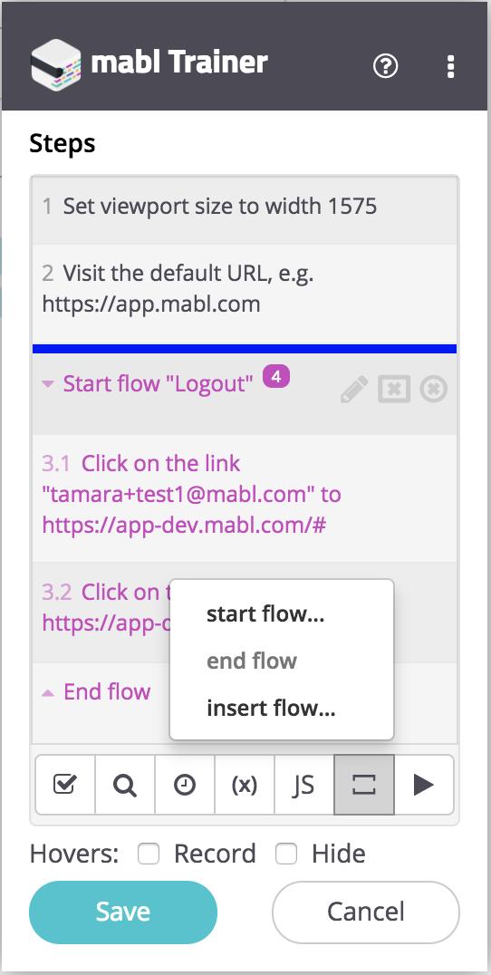Reusable flow interface