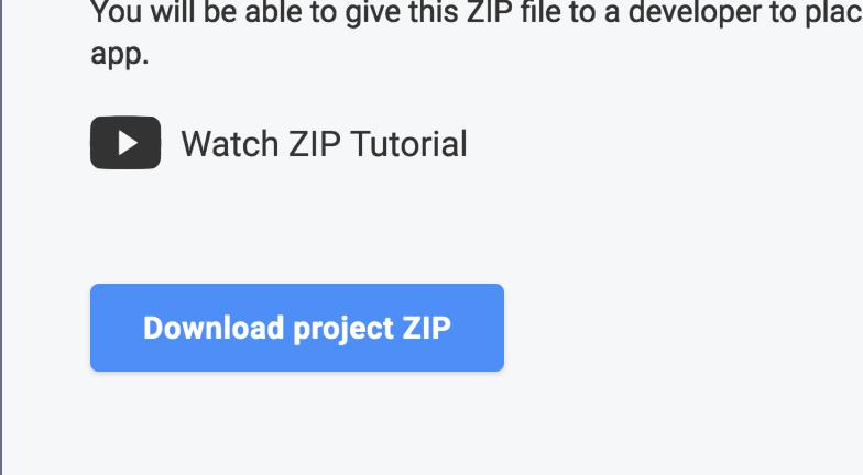 ZIP Export an Ionic Project