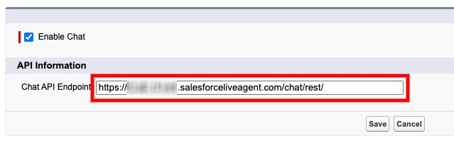 The Live Agent API Endpoint.