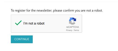 Newsletter reCAPTCHA page
