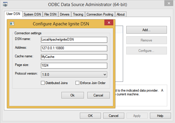 connection string and dsn  odbcadm odbcini example.php #1