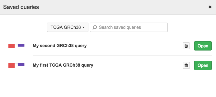 Query method 4: start from an existing query