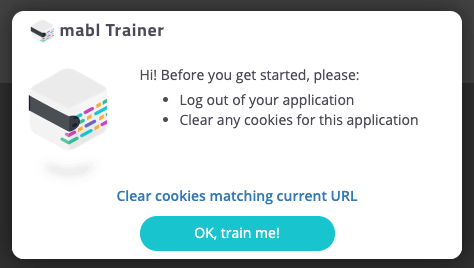Clear your browser cookies for the application under test.