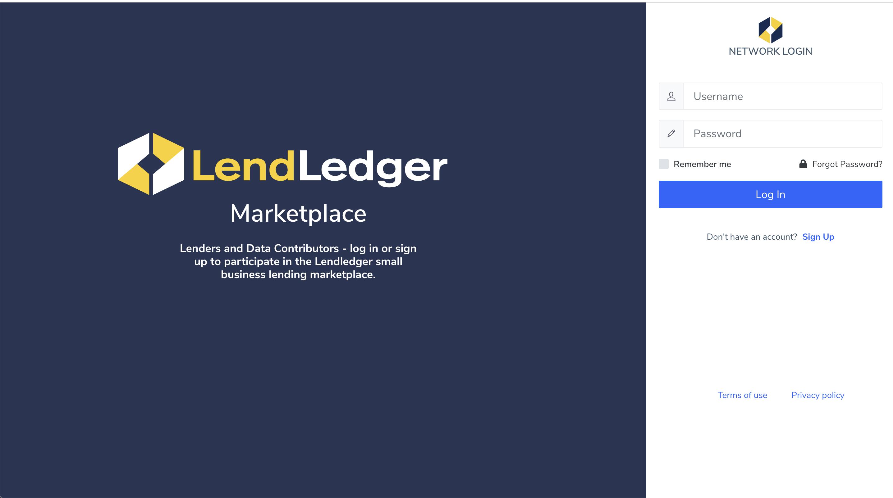 LendLedger Marketplace registration
