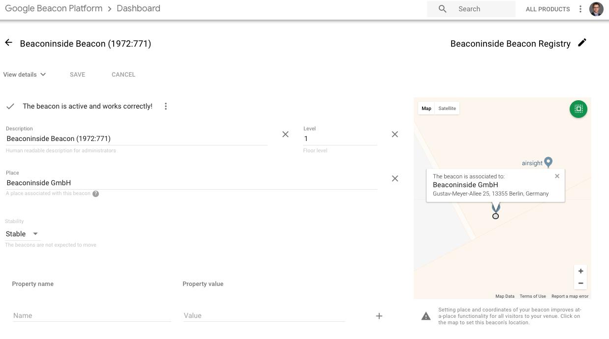 Google Beacon Platform Usage