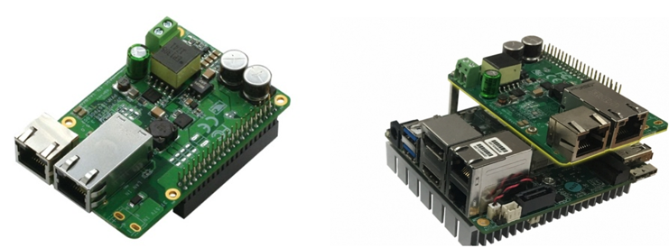 Figure 7. Power-over-Ethernet breakout board for the UP board