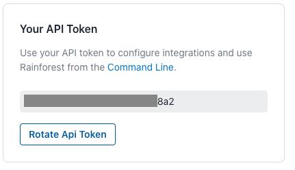 Your Rainforest API token.