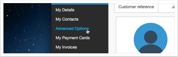 Select 'Advanced Options'
