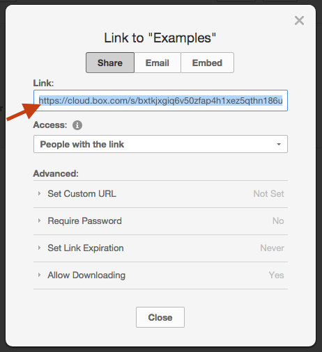 Additionally, you can also find this shared link value through the API: