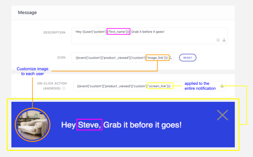 Personalizing Footer Notification to each user's preferences & behavioral history