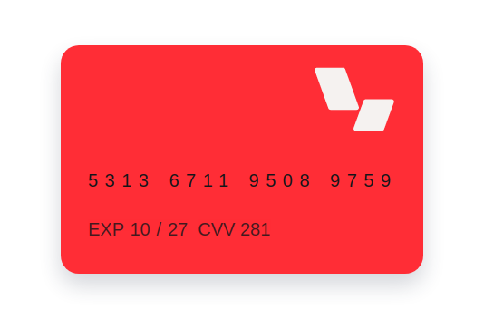 Example card rendering with logo