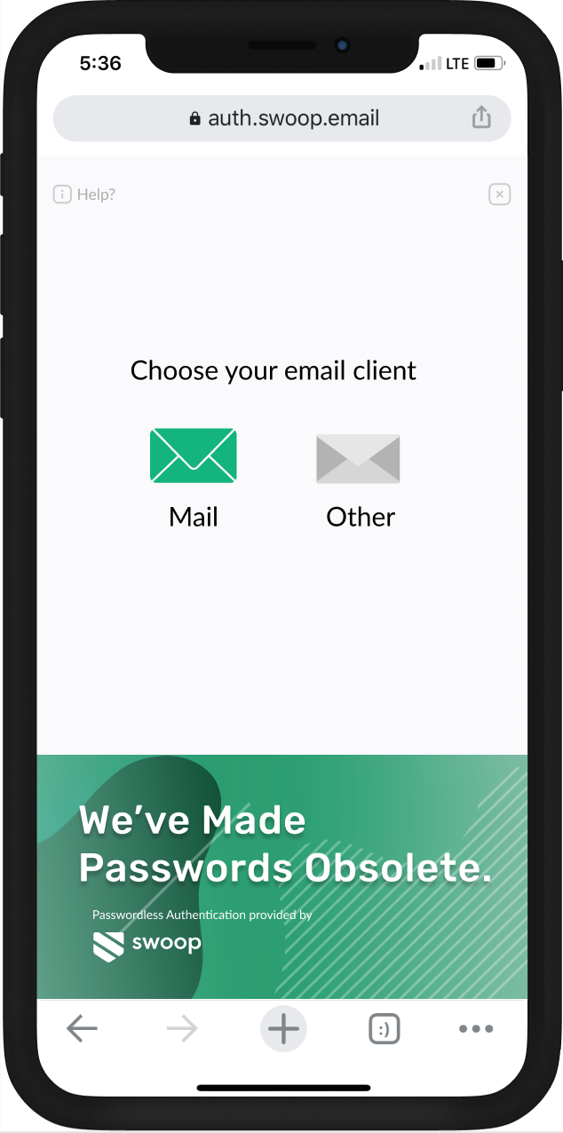 Step 1 - Send an email to login